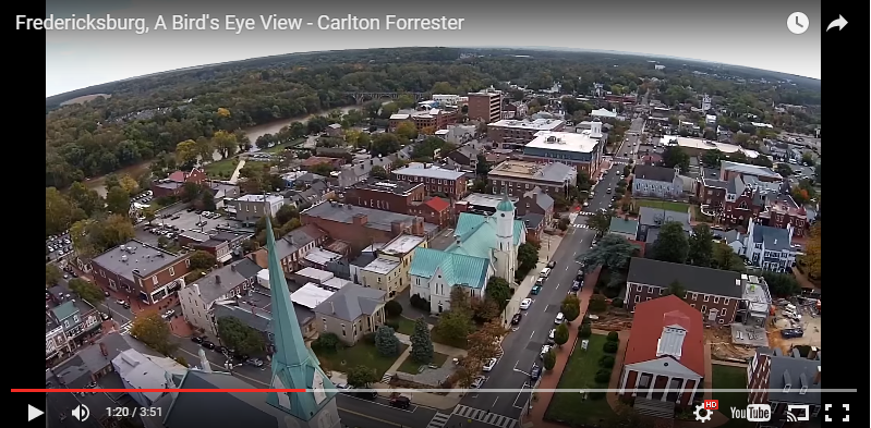 365 Things in #FXBG  | A Bird's Eye View of Fredericksburg, VA – Video
