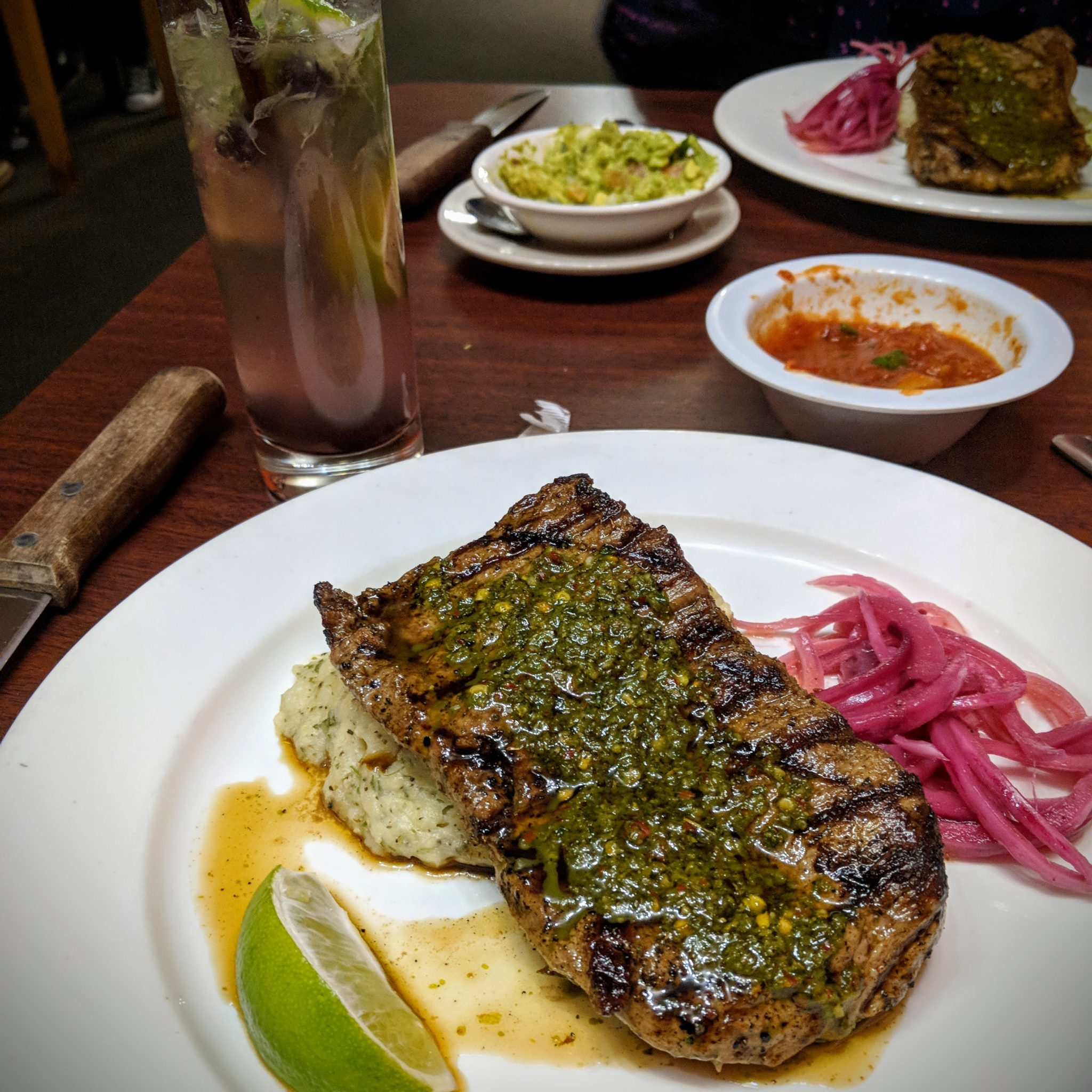soup and taco, restaurant week, 2018, winter, steak, chimichurri